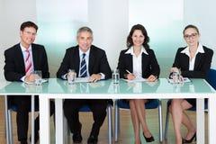 El panel de los oficiales de personales corporativos Imagenes de archivo