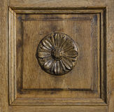 El panel de madera adornado Foto de archivo libre de regalías