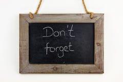 El panel de madera no olvida Fotos de archivo libres de regalías