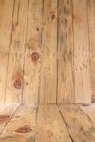 El panel de madera rústico de la textura en fondo Fotografía de archivo