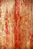 El panel de madera rojo brillante Fotos de archivo libres de regalías