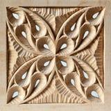 El panel de madera tallado perforado Fotos de archivo libres de regalías