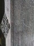 El panel de madera viejo de la ventana Imagenes de archivo