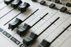 El panel de mezcla audio 1 Imagen de archivo