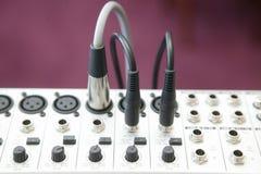 El panel de mezcla audio 2 Fotografía de archivo