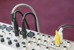 El panel de mezcla audio 4 Imagenes de archivo