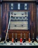 El panel de operador viejo - centralita telefónica Fotografía de archivo