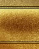 El panel de oro Imágenes de archivo libres de regalías