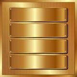 El panel de oro Fotos de archivo libres de regalías
