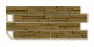 El panel de piedra marrón claro de la fachada Imagen de archivo libre de regalías