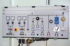 El panel de prueba eléctrico imagen de archivo libre de regalías