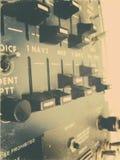 El panel de radio de los aviones fotografía de archivo