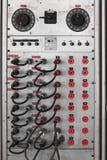 El panel de remiendo eléctrico para el equipo del circuito del laboratorio Foto de archivo libre de regalías