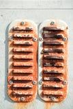El panel de ventilación oxidado Imágenes de archivo libres de regalías