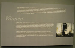El panel de visualización de la exposición de Fellini Foto de archivo libre de regalías