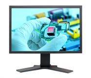 El panel de visualización del LCD S-PVA HD Imagenes de archivo