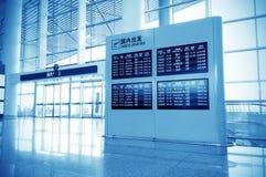 El panel del aeropuerto Fotografía de archivo libre de regalías