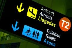 El panel del aeropuerto Imagen de archivo