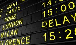 El panel del aeropuerto libre illustration