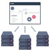 El panel del control de gestión del servidor Fotografía de archivo libre de regalías