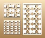 El panel del corte del laser ilustración del vector