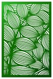 El panel del corte del laser del vector Silueta del recorte con el modelo botánico ilustración del vector