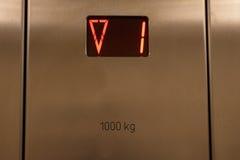 El panel del elevador Fotografía de archivo libre de regalías