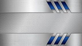 El panel del metal del acero inoxidable con grunge cubrió textura metálica libre illustration