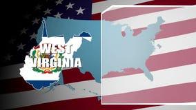 El panel del oeste de Virginia Countered Flag y de información almacen de video