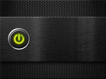 El panel del ordenador con el botón de la potencia en concepto libre illustration