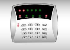 El panel del sistema de alarma de la seguridad Fotografía de archivo libre de regalías