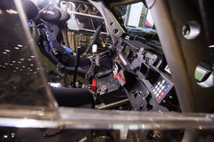 El panel del tablero de instrumentos del coche extremo campo a través de la reunión 4wd Foto de archivo