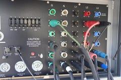 El panel diesel de la conexión del generador de poder foto de archivo libre de regalías