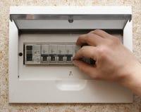 El panel eléctrico Imagen de archivo