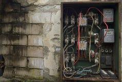 El panel eléctrico viejo Imágenes de archivo libres de regalías
