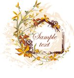 El panel floral del vector Fotos de archivo