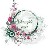 El panel floral del vector Fotografía de archivo libre de regalías