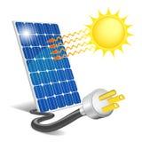 El panel fotovoltaico Foto de archivo libre de regalías