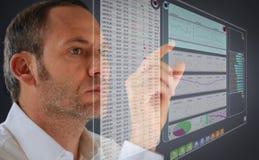 El panel futurista del LCD Fotos de archivo libres de regalías