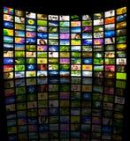 El panel grande de la TV