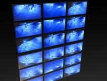 El panel grande de las TV Fotos de archivo
