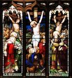 El panel inconsútil colorido del vitral en Edimburgo Fotografía de archivo libre de regalías