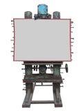 El panel industrial elegante de la publicidad del estilo, engranaje oxidado y perno, Foto de archivo libre de regalías