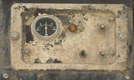 El panel instrumental viejo Foto de archivo