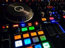 El panel luminoso, control sano del mezclador de la música Imágenes de archivo libres de regalías
