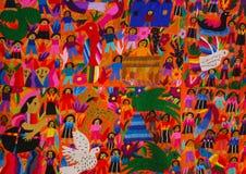 El panel mexicano del bordado Imagen de archivo