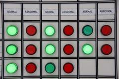 El panel o switchbox para el control de acondicionadores de aire en constr Imagen de archivo