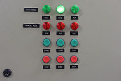 El panel o switchbox para el control de acondicionadores de aire en constr Fotos de archivo libres de regalías