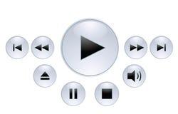El panel para el reproductor multimedia Imagen de archivo libre de regalías