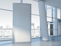 El panel publicitario en blanco representación 3d imagenes de archivo